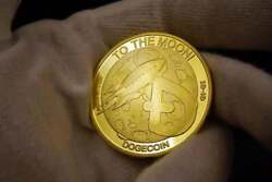 Wholesale Lot Dogecoin Coins Commemorative 2020 Gold Plated Doge Coin
