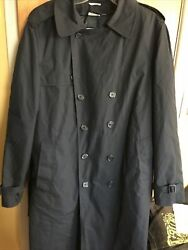STERLINGWEAR of BOSTON Vintage Mens 44XL Navy Military Issue Heavy Trench Coat