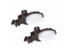 600-w Integrated Outdoor Led Area Light 9000 Lumens Dusk To Dawn 2-pack