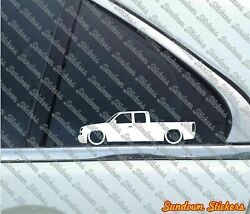 2 Low Muscle Truck Stickers For Chevrolet Silverado Extended Cab 2003-2006 L1185