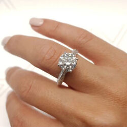0.90 Ct Natural Diamond Wedding Rings For Proposal Solid 950 Platinum Size 5 6 7