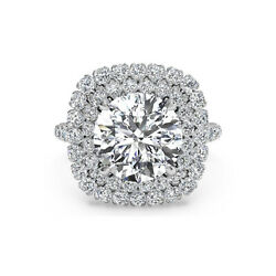 Beautiful Cut Real Diamond 1.30 Ct Solid 950 Platinum Engagement Ring Size 8 9.5