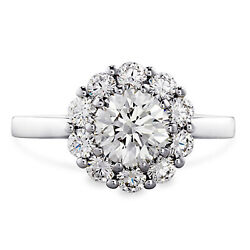 Real Diamond Round Cut 0.80 Ct Engagement Ring Solid 950 Platinum Size 5.5 6 7