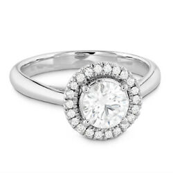 Natural 1.20 Ct Diamond Engagement Ring For Bridal Solid 950 Platinum Size 5 6 7