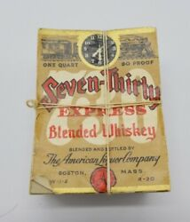 Seven-thirty Express Train - Blended Whiskey Labels Wholesale Lot Of 500 1930and039s