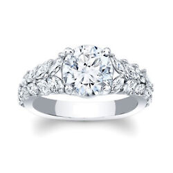 For Wedding Real Diamond 1.54 Ct Engagement Ring Solid 950 Platinum Size 5 6 7