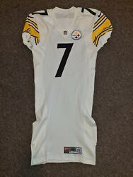 Ben Roethlisberger 7 Pittsburgh Steelers White Authentic Football Jersey Sz 42
