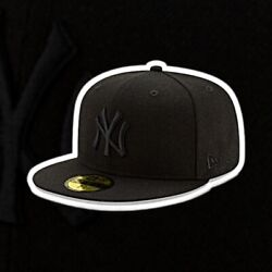 New York Yankees New Era Game Authentic Black 59fifty Fitted Hat Size 7 3/4