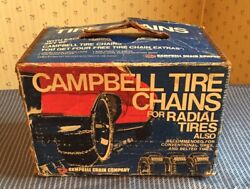 """Cambell Chain Radial Tire Cable Chains 1254 14"""" 15"""" Wheels 1 Pair Vintage"""