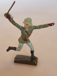 Rare Prewar Lineol German Soldier Attacking With Sword Wwii