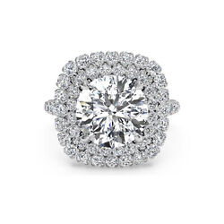 Real Diamond 1.30 Ct Excellent Cut Solid 950 Platinum Engagement Rings Size 5 6