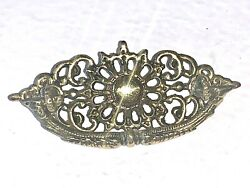 Antique Ornate Brass Drop Bail Drawer Pull Handle Hardware 2-7/8andrdquo Center