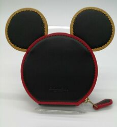 Coach Disney Mickey Mouse X Keith Herring Coin Case C2535 F/s Near Mint Used