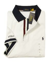 Polo Big And Tall Menand039s White Mesh Short Sleeve Polo Shirt
