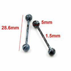 Lots 10pc Stainless Steel Ball Barbell Tongue Rings Nipple Piercing Body Jewelry