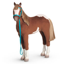American Girl Doll 13 Paint Filly Horse Pinto Foal Baby Pony + Halter Lead Rope