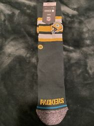 Stance X Nfl Green Bay Packer Casual Infiknit Socks Large 9-12