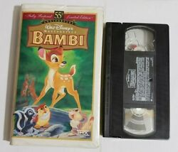 ⭐vhs Bambi 55th Anniversary Limited Edition - Masterpiece Collection Series