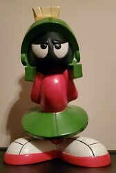 Extremely Rare Warner Bros Looney Tunes Marvin The Martian Big Figurine Statue