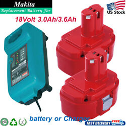 18 Volt For Makita Pa18 1834 1823 Battery 1833 1835 1822 192826-5 Dc1804 Charger
