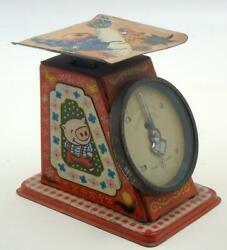 1950and039s Vintage Japanese Tin Toy Scale- Rabbit Chicken And Pig