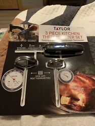 Taylor 3-piece Kitchen Thermometer Set Featuring Super Fast Thermocouple