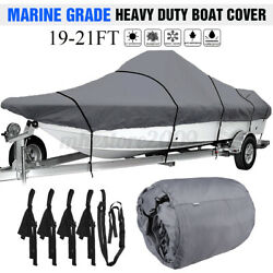 19-21ft Waterproof Boat Cover Marine Grade For V-hull Center Console Boats