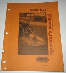 Woods M4-2 Rotary Cutter Mower Operators Owners Maintenance Parts Manual Oem