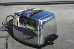 Vintage Sunbeam Art Deco Style Toaster Tested And Works T-20a Automatic Lowering