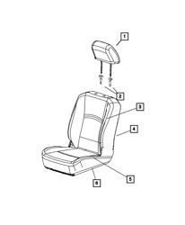 Genuine Mopar Front Seat Back Cover Right 5rc40dx9ab