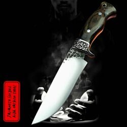 High Carbon Steel Custom Forged Railroad Fixed Blade Knife Spike Knives Tools