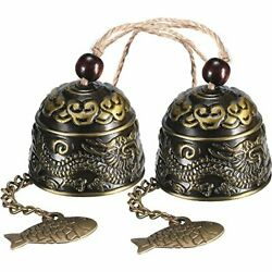 2 Pieces Fengshui Bell Vintage Dragon Bell Fengshui Wind Chimes For Home