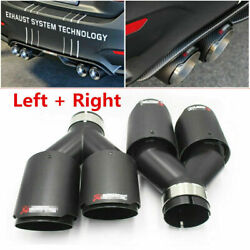 2pcs Akrapovic Carbon Fiber Exhaust Tip Dual Pipe All Size Od 76 89 101 114mm