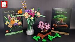 Brand New Lego Botanical Collection Set Bonsai Tree 10281 And Flower Bouquet 10280