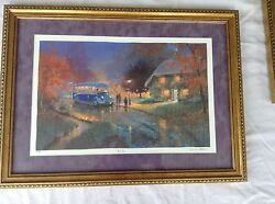 Andrew Warden Seriolithograph Blue Bus Signed And Numbered 158/750 Limited Edition