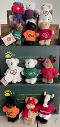 Boyds Bears Lot Of 12 Mini Message Bears-nwts, Hard To Find And Adorable