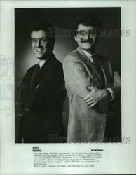 Press Photo Jeffrey Lyons And Michael Medved Cohost Sneak Previews In Chicago