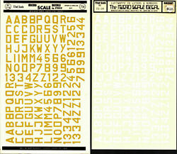 Micro Scale Decals 2 Sheets 1/72 Scale Ww2 Luftwaffe Id Letters And Numbers 90m