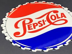 Vintage Pepsi Cola Bottle Cap From Soda Bottle 12 Metal Pop Coca Gas And Oil Sign