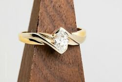 Marquise Solitaire Ring 14k Yellow Gold Size 9