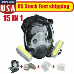15 In 1 Respirators Kit For 6800 Facepiece Gas Mask Full Face Painting Spraying