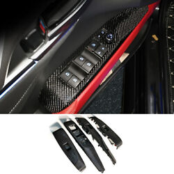 For 18-21 Toyota Camry Carbon Fiber Window Lift Glass Control Panel Replacement