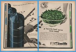 1962 Ao Smith Harvestore Silo Dairy Farm Cattle Feed Haylage Vintage Print Ad