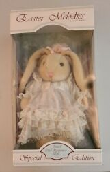Anco Rabbit Bunny Doll Easter Melodies Plush Vtg Spring Adorable Jointed 15