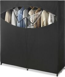 Whitmor Portable Wardrobe Clothes Storage Organizer Closet with Hanging Rack