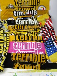 Pittsburg Steelers Myron Cope Terrible Towel Lot Of 10 Brand New With Tags