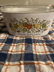Rare Spice Of Life Corning Ware 3 Quart Dutch Oven With Lid