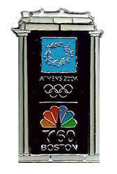 2004 Athens Xxviith Summer Olympiad Boston Nbc Cable Station Channel60 Pin