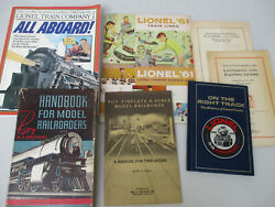 Toys Electric Model Trains Railroads Manuals Guides Lionel Brand History Lot