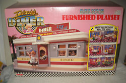 11165 Nrfb Vintage Tyco Deluxe Furnished Dixie's Diner Playset